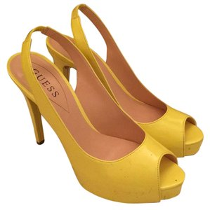 Guess Yellow Pumps