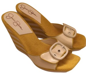 Jessica Simpson Yellow Wedges