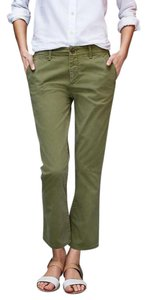 Gap Crop Kick Cropped Capri/Cropped Pants Green