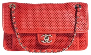 Chanel Flap Jumbo Perforated Up In The Air Shoulder Bag