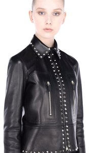 Valentino Leather Studded Rockstud Leather Jacket