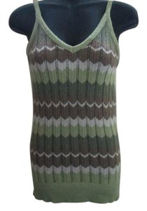 No Boundaries Striped Metallic Summer Top Multicolored
