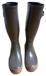 Marc Jacobs Knee High Waterproof Taupe Brown Boots