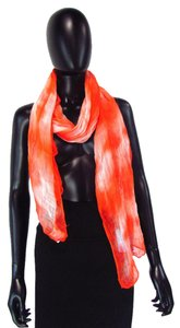 Eileen Fisher Eileen Fisher Orange White Marble Thin Knit Versatile Scarf