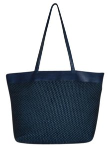 Talbots Leather Beach Large Tote in Blue