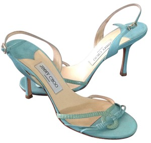 Jimmy Choo Heels Turquoise Sandals