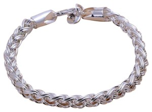 unknown NEW Hall Marked 925 Sterling Silver Chain Bangle Bracelet, 6.9 g Sz 7.5