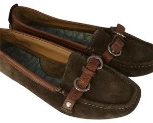 Coach Loafer Suede Brown Flats