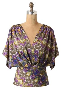 Anthropologie Top Purple print
