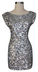 Alice + Olivia Sequin Mini Silk Dress