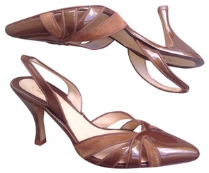 Cole Haan Patent Leather Suede Copper Pumps