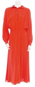 Red Maxi Dress by Tory Burch Flowy Silk
