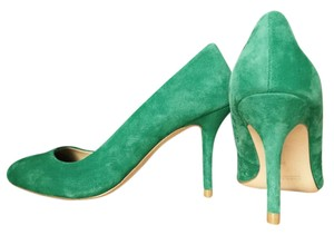 Zara Suede Round Toe Green Green/Mint Green Pumps