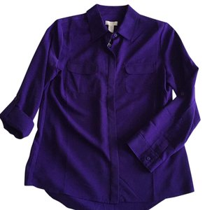 Chico's Button Down Shirt African Amethyst