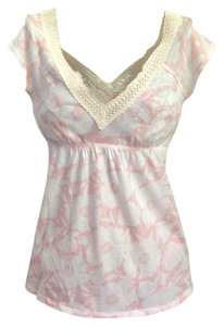 Abercrombie & Fitch Top Peach/Ivory