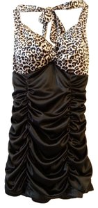 Other Leopard and Black Halter Top