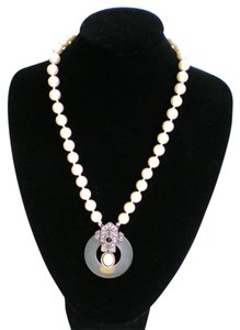 Richelieu Richelieu Cultured Pearl and Marcasite Neclace