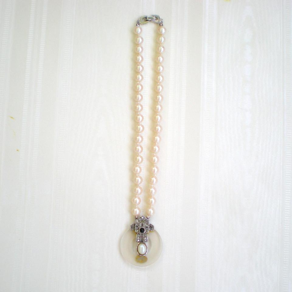 Richelieu Pearl Cultured And Marcasite Necklace Tradesy