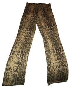Guess Snakeskin Coated 90's Boot Cut Jeans-Coated