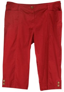 JM Collection Capris Red