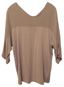 Dolan Anthropologie Large Knit Left Coast Batwing Top Putty - between grey and taupe