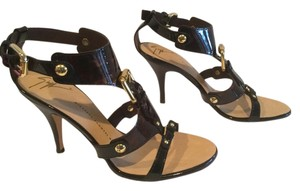 Giuseppe Zanotti Italian Stiletto Heels Tortoiseshell patent all leather Sandals