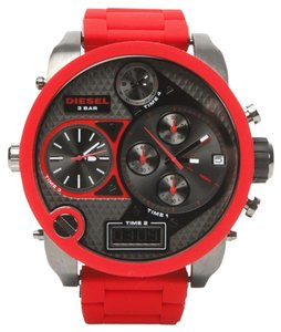 Diesel Diesel DZ7279 Men's SBA Oversized Mr Daddy Red Silicon Watch