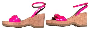 Stella McCartney Neon pink Wedges
