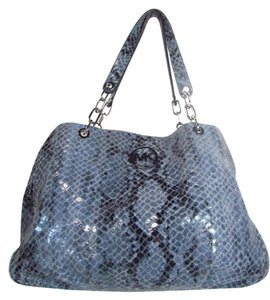 Michael Kors Faux Snake Skin Large Shoulder Bag
