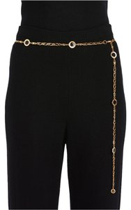 St. John St John Knits Gold Chain Belt With Black Enamel (L) #12434