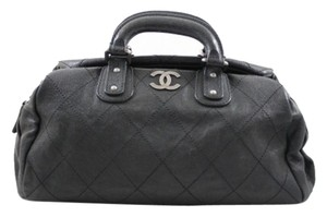 Chanel Outdoor Ligne Top Handle Satchel in Black