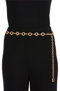 St. John St John Knits Matte Gold Circle Chain Belt (M/L) #12436