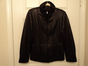 Jones New York 100% Genuine Leather Shell Leather Jacket