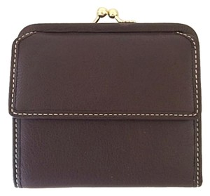 Coach Coach Brown Leather Kiss Lock Wallet - NWOT