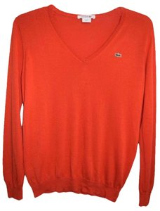Lacoste V-neck 100% Cotton Sweater