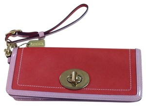 Coach Wristlet in Red And Pink