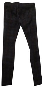 BlankNYC Plaid Brushed Made In Usa Straight Pants Dark Plaid
