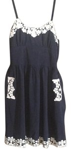 Comme Toi short dress Navy/ivory on Tradesy