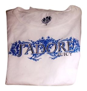 Juicy Couture New Womens T Shirt White/Blue