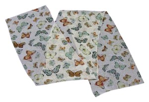 Other Sheer Scarf with Butterfly Motif