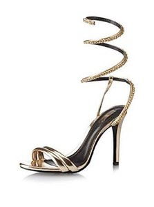 SCHUTZ Strappy Heel Gold Pumps