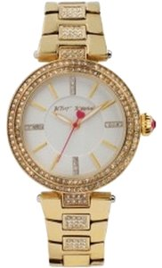 Betsey Johnson Betsey Johnson Crystal Accent Watch