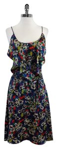 Jill Stuart short dress Multi Color Daisy Print Silk on Tradesy