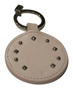 Coach Nwt Coach Studded Pink Leather And Mirror Key Chain Key Fob