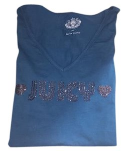 Juicy Couture New Womens Teens T Shirt Turquoise/Silver