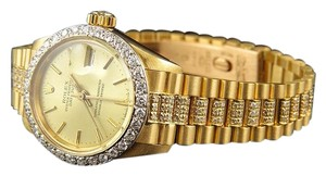 Rolex Ladies 26mm 18k Yellow Gold Rolex Datejust Presidential Diamond Watch