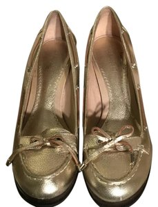 Sperry Gold Wedges