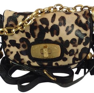 Christian Audigier Chain Turn Lock Tassels Shoulder Bag