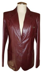 Etienne Aigner Brown Leather Jacket