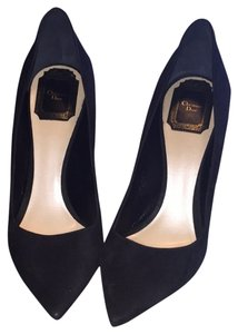 Christian Dior Black Suede Pumps